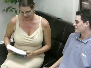 Busty teacher for inexperienced guy