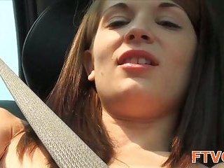 Pussy stuffed by dildo scene 2