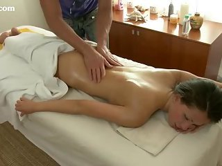 Petite Brunette Pussy Spread Massage Fucking