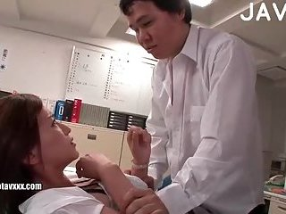 Asian office worker gets sexd