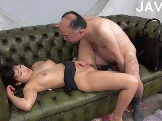 anese slut fucked on the sofa