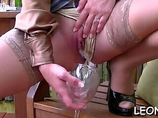 Passionate Leony Aprill is getting her beaver fingered