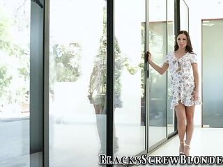 Brunette gets spitraosted by bbcs