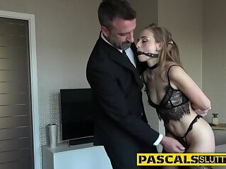 Bdsm babe gets whipped and fucked