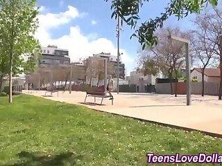 Real teen fucked outside
