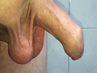 My uncut cock cums 3 times