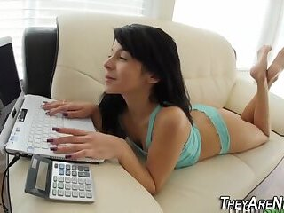 Teen amateur face jizzed