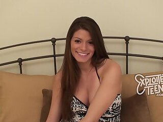 Nervous 19 yr old amateur stars in her first teen porn video