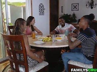 Black Stepfamily Dinner Turns Into Hardcore Orgy
