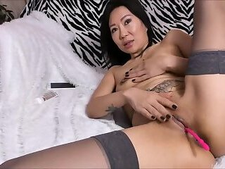 Petite asian big ass milf pussy and anal fingering on cam