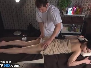 Japanese hot massage with sexy babe