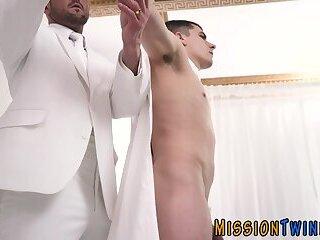 Fingered and bareback fucked mormon