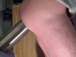 Real steel - hard anal work with hard dildo