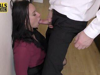Real BDSM fetish whore takes dick deep